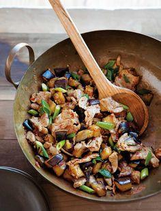 Spicy Pork & Eggplant  Stir-Fry by williams-sonoma #Pork #Eggplamt #Stir_Fry