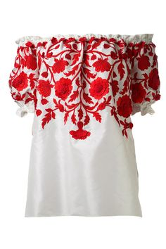 Naeem Khan Embroidered Peasant Blouse, $2,690; farfetch.com   - ELLE.com