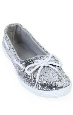 Deb Shops #glitter #boat #shoe