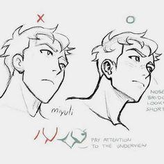 Anatomy Drawing, Manga Drawing, Male Face Drawing, Anatomy Art, Drawing Techniques, Drawing Tips, Drawing Ideas, Drawing Stuff, Face Drawing Tutorials