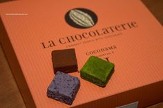 La Chocolaterie  cheesy chocolates in various flavors  matcha, blueberry, mango, chocolate and strawberry