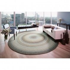 Homespice Decor Wool Braided Riviera Oval Rug - 803054