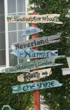 Hundred Acre Wood, Neverland, Cinderella's Castle or The Castle, Enchanted Forest, Narnia, The Burrow
