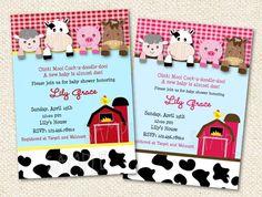 Invitaciones de la ducha de bebé corral por LollipopPrints en Etsy