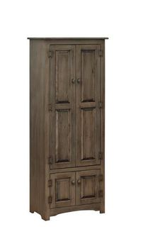 "Amish Pine Linen Cupboard Solid pine cupboard that stands 70"" high. Gorgeous storage for country or cottage style rooms. Choice of stain, paint or distressing options. Amish made in Pennsylvania. #DutchCrafters"