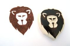 Lion Hand Carved Rubber Stamp by SweetSpotStampShop on Etsy, $5.99