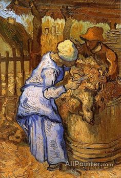 Vincent Van Gogh The Sheep-shearers (after Millet) oil painting reproductions for sale