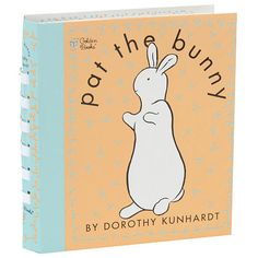 A staple of nursery bookshelves for more than 60 years, Pat the Bunny features touch-and-feel pages in the form of a spiral-bound board book.