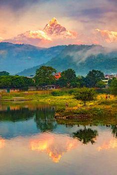 Sunrise at Pokhara, Nepal