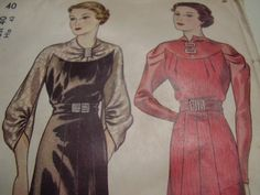 Vintage 1930's Simplicity 2225 Dress Sewing by TheLastPixie