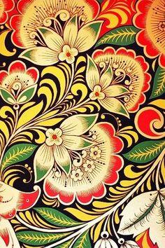 Khokhloma Russian Folk Art - Google Search