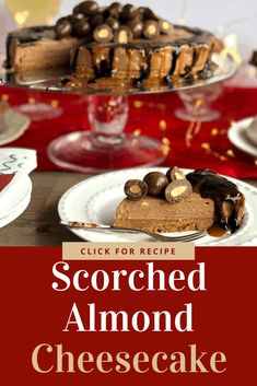 Truly decadent dessert, this Chocolate Almond Cheesecake is the best! Such an easy recipe, perfect for a special occasion
