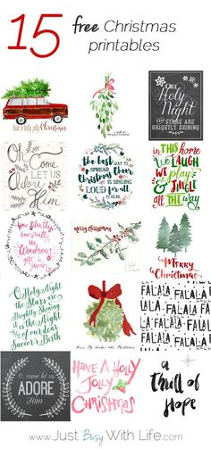 656 best free christmas printables images on pinterest in 2018