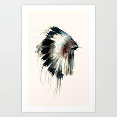 Headdress Art Print by Amy Hamilton - $17.00