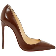Pre-owned Christian Louboutin So Kate Leather Heels ($516) ❤ liked on Polyvore featuring shoes, pumps, brown, women shoes heels, christian louboutin pumps, christian louboutin shoes, christian louboutin, pre owned shoes and brown pumps