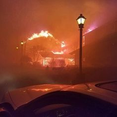 Gatlinburg is burning! Here's a picture taken a few hours ago. Many people are homeless today. 30 buildings are currently on fire! It is truly the worst thing I have ever seen!