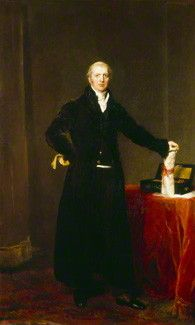 Lord Liverpool oil on canvas by Sir Thomas Lawrence. 1827. National Portrait Gallery. Liverpool has been painted holding the charter for the National Gallery.