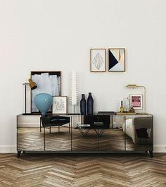Móvel adiciona brilho e valoriza o piso trabalhado