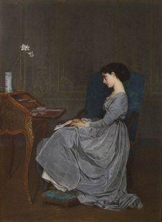 The letter - Auguste Toulmouche (1867)