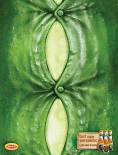 「野菜にカロリーを与えていませんか?」本質をついたドレッシングの広告  |  AdGang