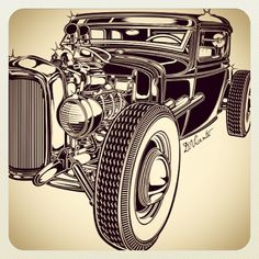 Hot rod by D. Vicente #Padgram
