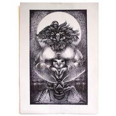 Hahonin Art @hahoninart Instagram photos | Websta (Webstagram) #sergej_hahonin #drawing #shaman