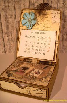 Antjes Bastel-Garage: Kalender mit Notizzettelbox