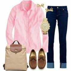 Camisa rosa vichy