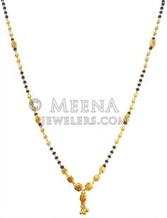 Mangalsutra is designed with beaded gold balls at the center with fine machine cuts. Chain is handcrafted with black beads and gold balls teemed together in an alternate pattern. Silver Anklets Designs, Gold Mangalsutra Designs, Gold Earrings Designs, Wedding Jewellery Designs, Gold Jewellery Design, Bridal Jewelry, Gold Chain Design, Gold Jewelry Simple, Bridal Bridal Jewellery