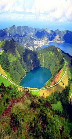 lake of fire sao miguel island azores