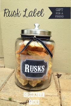 DIY FREE RUSK LABEL. I made this for a friends birthday - JustLoveDesign
