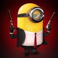 "Fan Art of Minion ""Hitman"" for fans of Despicable Me Minions. Here is minion ""Hitman"" Amor Minions, Minions Cartoon, Despicable Me 2 Minions, Cute Minions, My Minion, Minions Quotes, Funny Minion, Minion Sayings, Minions Despicable Me"