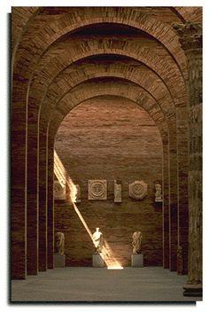 National Museum of Roman Art, Rafael Moneo, 1984, Merida, Spain