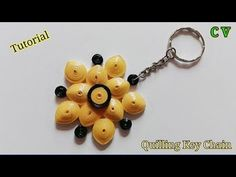 How to Make Quilling KeyChain / Tutorial/ Design 7 Quilling Keychains, Quilling Earrings, Quilling Paper Craft, Paper Crafts, Quilling Tutorial, How To Treat Acne, Dollar Stores, Christmas Gifts, Quilling
