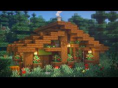 Minecraft Wooden House, Minecraft Cabin, Casa Medieval Minecraft, Minecraft Houses Survival, Minecraft Cottage, Easy Minecraft Houses, Minecraft House Tutorials, Minecraft House Designs, Minecraft Decorations