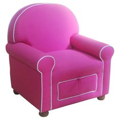 Kids Upholstered Chair Pink - HomePop