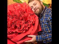 Мастер класс большие цветы, цветы из изолона, цветы из фоамирана