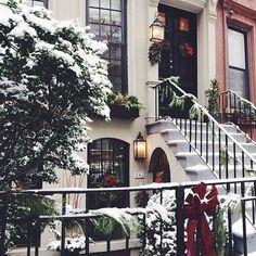 Brown stone Christmas warmth