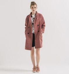 Abrigo de Tweed Rojo - Promod