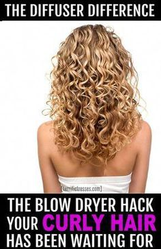 Anyone who wants curls that pop should know how to use a hair dryer diffuser. This quick tutorials shows you how easy it is to use this awesome tool for curly hair. | TerrificTresses.com via @torifitnzer #CoconutOilHairCare Curly Hair Tips, Curly Hair Care, Short Curly Hair, Hair Care Tips, Frizzy Wavy Hair, Curly Girl, Frizzy Curls, Curls Hair, Style Curly Hair