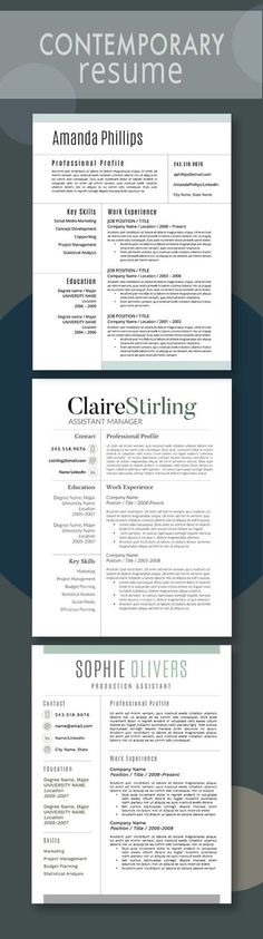 Beautiful resume template for Microsoft Word with 3 distinct styles     Beautiful resume template for Microsoft Word with 3 distinct styles and  matching cover letters   Useful   Pinterest   Microsoft word  Microsoft and  Template
