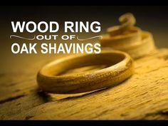 Wooden ring out of Oak shavings / Anell d'encenalls de roure / Anillo de virutas de roble - YouTube