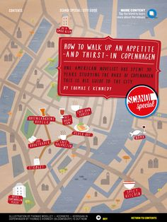 Guide to walking up an appetite in CPH | food and drink map of Copenhagen