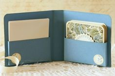 Great tutorials on how to make boxes or pockets of paper. From: Just Give me Stamps