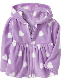 Micro Performance-Fleece Zip-Hoodies for Baby | Old Navy Кофточка на замке и с капюшончиком из тонкого флиса. Мягкий полиэстер.