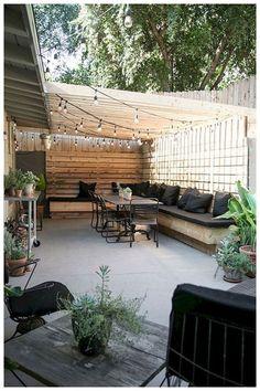 Backyard Seating, Small Backyard Gardens, Small Backyard Design, Backyard Patio Designs, Small Backyard Landscaping, Backyard Pergola, Backyard Ideas, Landscaping Ideas, Pergola Ideas