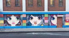 Brazilian street artist Nina Pandolfo