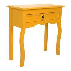 Criado-mudo Amarelo Luis XV