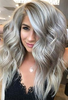 68 Hottest Medium Length Hairstyle With Layers Design To Look Stunning – Hair Styles Ash Blonde Hair Dye, Blonde Hair Colour Shades, Silver Blonde Hair, Hair Color And Cut, Dyed Hair, Ash Blonde Balayage Silver, Medium Ash Blonde Hair, Cool Ash Blonde, Platinum Blonde