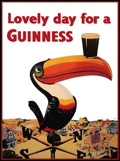 CLICK TO DOWNLOAD! Lovely Day for a Guinness - Beer Drinks Advertising Vintage Poster   Free Vintage Posters, vintage poster, vintage advertising, guinness poster, vintage art print